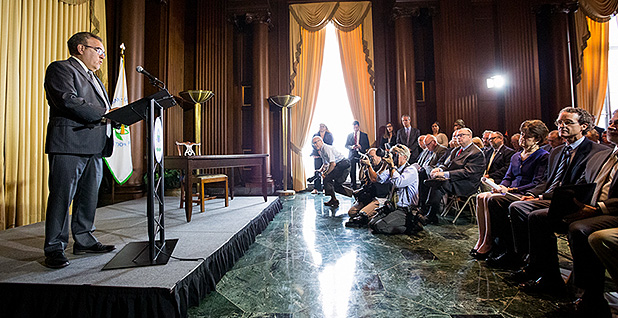 Andrew Wheeler unveiled the final Affordable Clean Energy rule. Photo credit: Francis Chung/E&E News