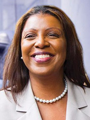 Letitia James. Photo credit: @TishJames/Twitter
