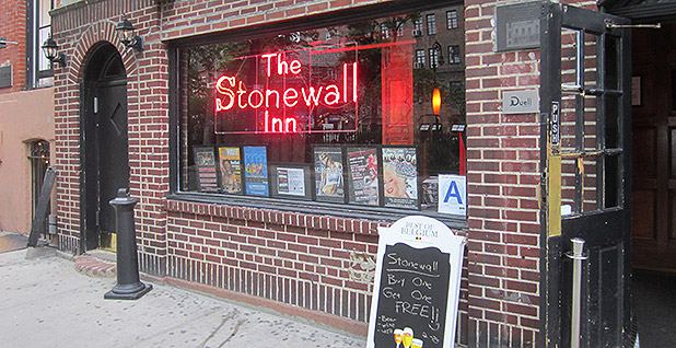 The brick front of the Stonewall Inn. Photo credit: Another Believer/ Wikimedia Commons