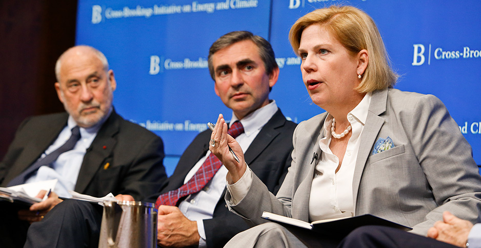 Adele Morris speaks on a panel. Photo credit: Paul Morgi/Brookings Institution/Flickr