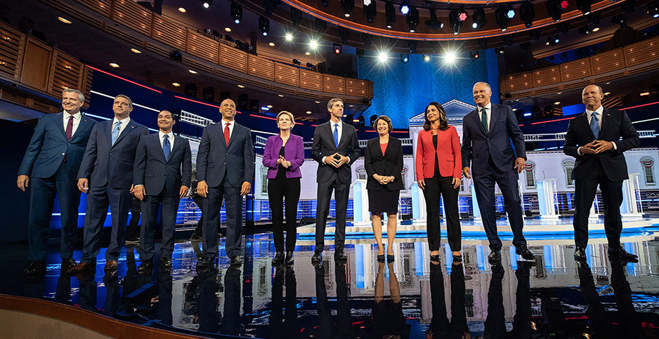 Democratic debate. Photo credit: Kevin Dietsch/UPI/Newscom