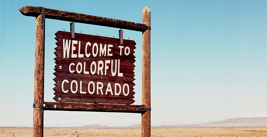 Welcome to colorful Colorado sign. Photo credit: Grand Junction Regional Airport