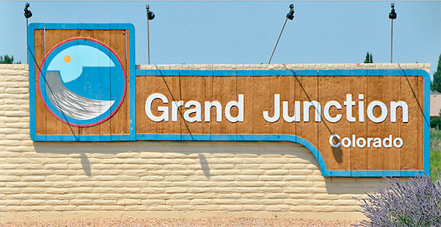 Grand Junction, Colo. sign. Photo credit: Zack Jones/Colorado State University