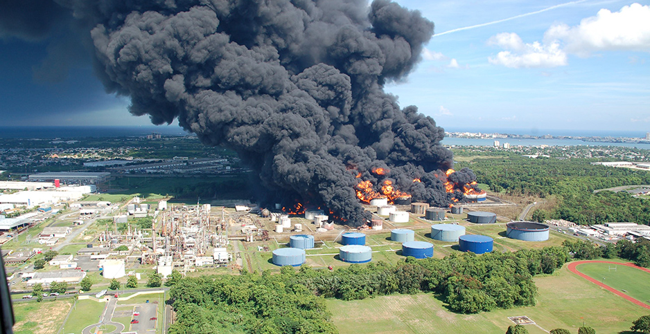 Explosion at gas storage site in San Juan. Photo credit: Chemical Safety Board