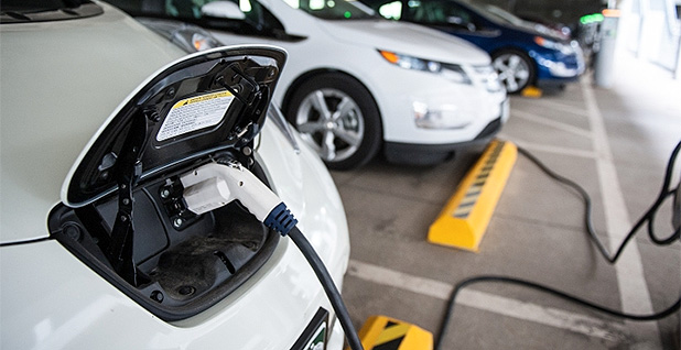 An electric vehicle charging. Photo credit: Department of Energy