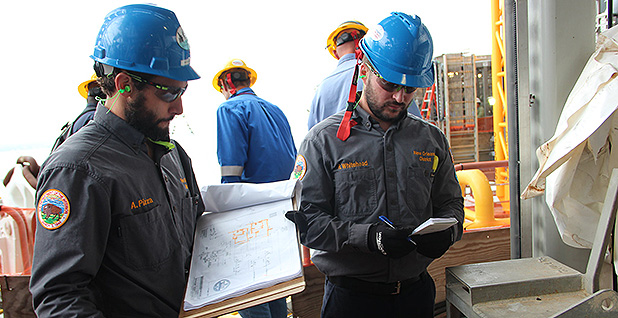 BSEE engineers and inspectors sign off on several topsides components during a pre-production inspection March 27, 2018. Photo credit: Bureau of Safety and Environmental Enforcement BSEE/Flickr