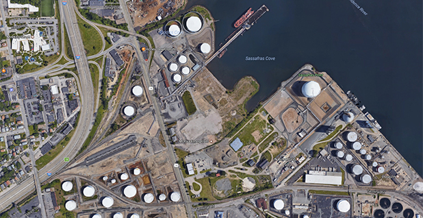 Shell's Providence Terminal. Photo credit: Conservation Law Foundation