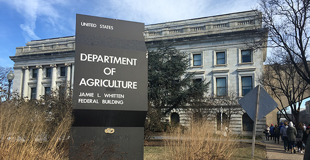 U.S. Department of Agriculture headquarters in Washington. Photo credit: Claudine Hellmuth/E&E News