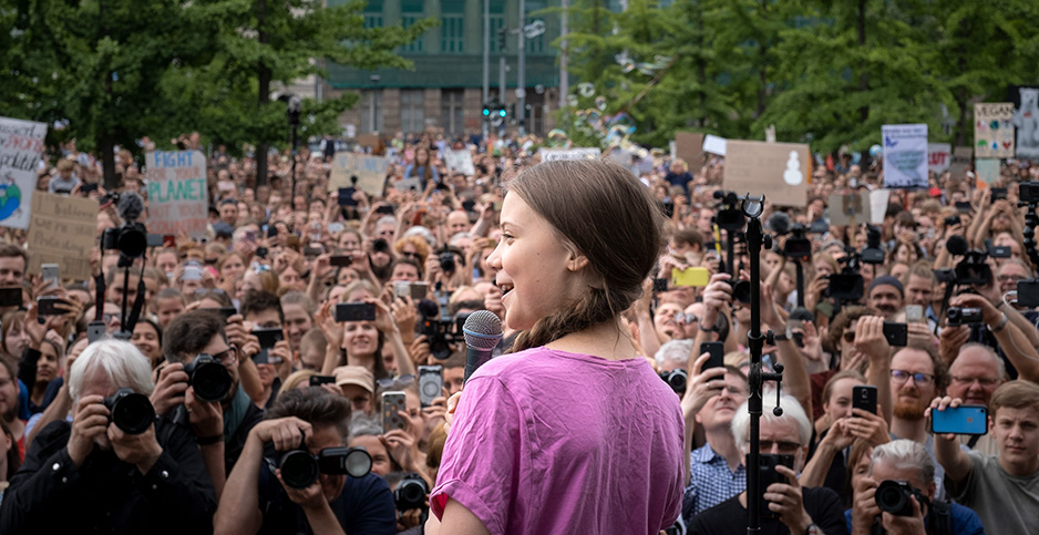 Greta Thunberg. Photo credit: imageBROKER/Christian Mang/Newscom