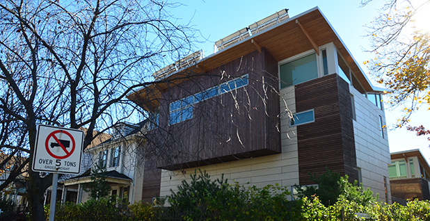 An LEED certified home. Photo credit: Eric Allix Rogers/Flickr