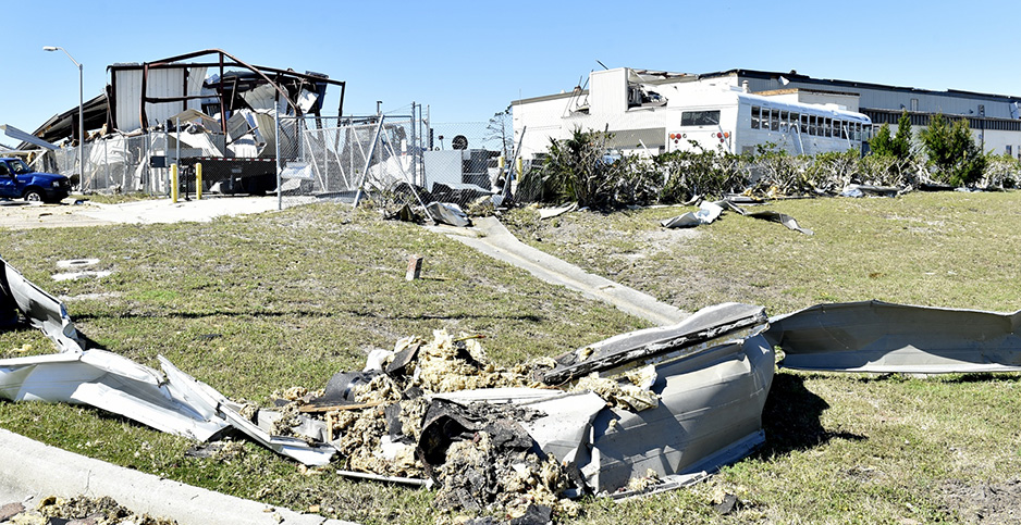 Hurricane damage at Tyndall Air Force Base. Photo credit: Tech. Sgt. Liliana Moreno/U.S. Air Force