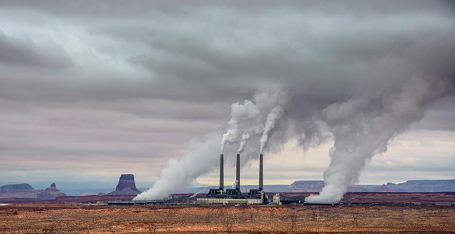 The Navajo Generating Station near Page, Ariz. Photo credit: Radomir Hofman/agefotostock/Newscom