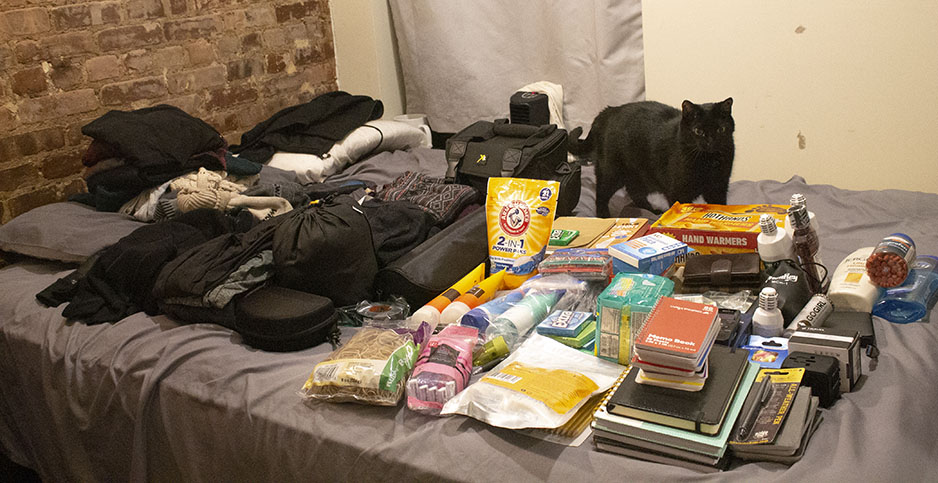 Gear for a six-week Arctic expedition. Photo credit: Chelsea Harvey/E&E News