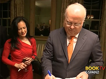 Susan Ralston and Karl Rove. Photo credit: C-SPAN