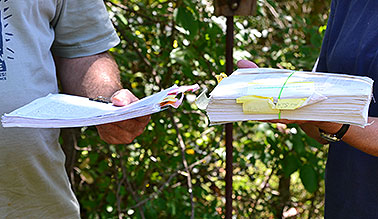 Regulation paperwork. Photo credit: Corbin Hiar/E&E News