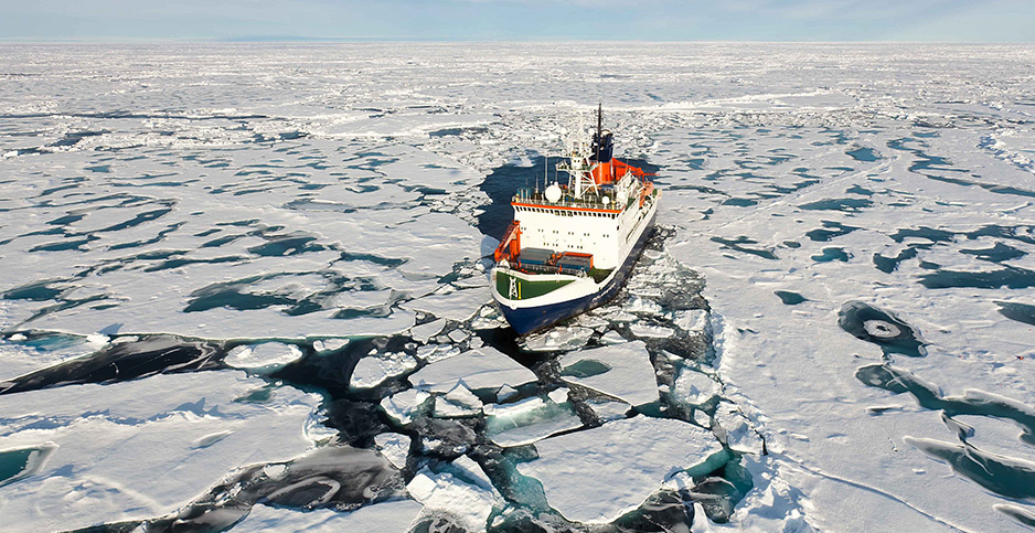 German icebreaker Polarstern is moving through time zones. Photo credit: DPA/ABACA/Newscom