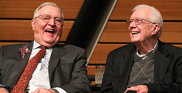 Walter Mondale and Jimmy Carter. Photo credit: Anthony Souffle/TNS/Newscom
