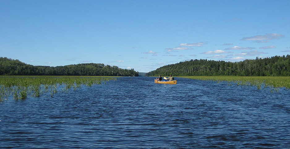 Canoes at Boundary Waters Canoe Wilderness Area. Photo credit: Greg Walters/Flickr