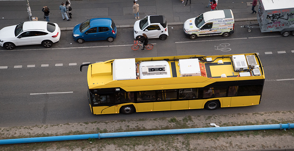 An electric bus in Berlin, Germany. Photo credit: J�rg Carstensen/dpa/picture-alliance/Newscom