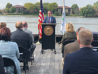 EPA Administrator Andrew Wheeler in Green Bay, Wis. Photo credit: @EPAAWheeler/Twitter