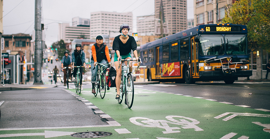 Bicyclists in Seattle. Photo credit: Adam Coppola Photography/Flickr
