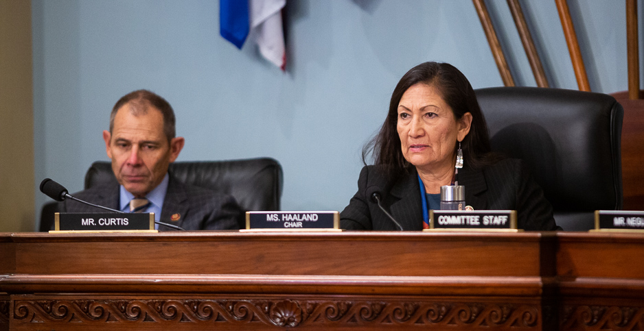 Reps. Deb Haaland (D-N.M.) and John Curtis (R-Utah). Photo credit: Francis Chung/E&E News