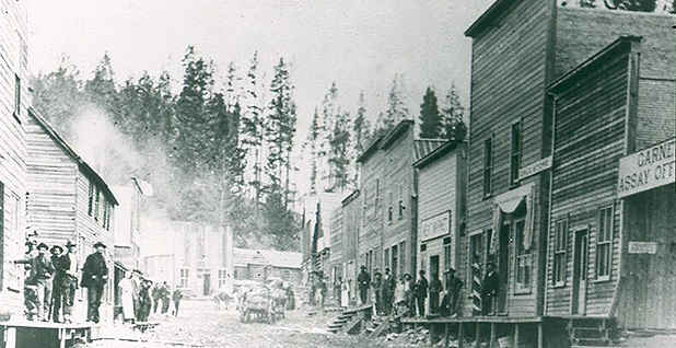 A photo of Garnet's main street around the turn of the 20th Century. Photo credit: BLM