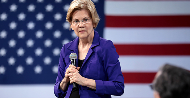 Warren's New Plan Would Punish Exxon for Lying to Regulators