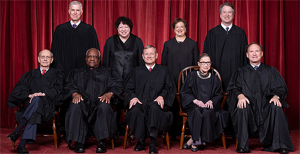 Supreme Court Justices in 2019 Photo credit: Fred Schilling/Collection of the Supreme Court of the United States