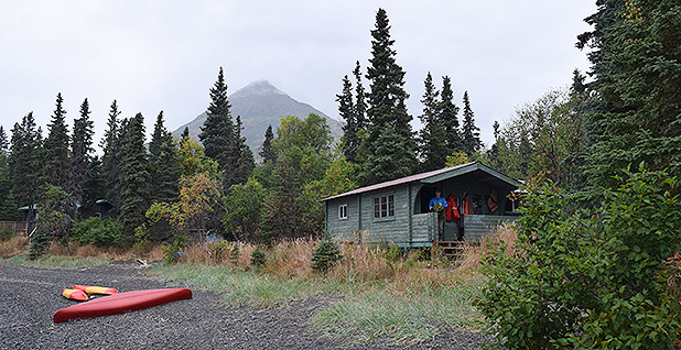 The base camp for the University of Washington's Alaska Salmon Program. Photo credit: Dylan Brown/E&E News