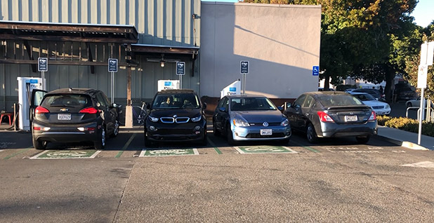 EV charging stations in Berkeley, Calif. Photo credit: David Ferris/E&E News