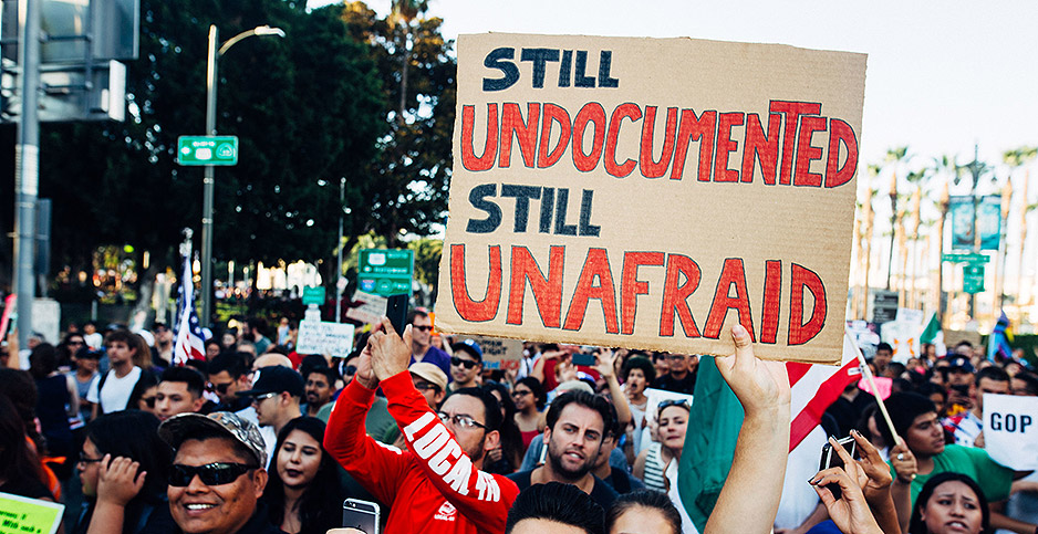 Protesters in Los Angeles in 2017. Photo credit: Molly Adams/Flickr