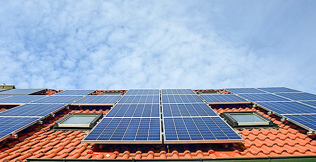 Rooftop solar panels. Photo credit: Pixabay