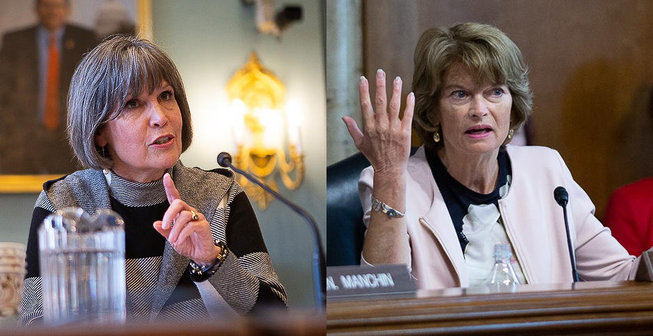 Rep. Betty McCollum (D-Minn.) and Sen. Lisa Murkowski (R-Alaska). Photo credit: Francis Chung/E&E News