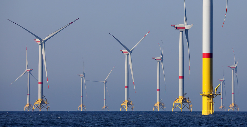 The Viking wind farm in the Baltic Sea near Germany is pictured last year. Photo credit: Bernd Westneck/dpa/picture-alliance/Newscom