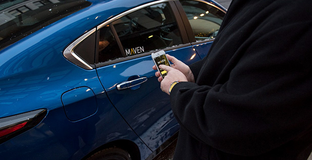 Maven car share program. Photo credit: General Motors