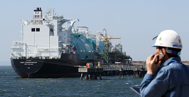 The Malaysia-registered LNG tanker Serry Sandrawash receives LNG in Incheon, South Korea, last month. Photo credit: Yonhap News/YNA/Newscom
