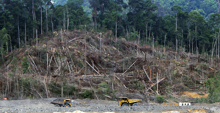 Land is cleared for a coal mine in Central Kalimantan, Indonesia. Photo credit: Andrew Taylor/IndoMet in the Heart of Borneo/Flickr