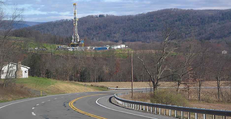 Pennsylvania gas drilling tower. Photo credit: Ruhrfisch/Wikimedia Commons