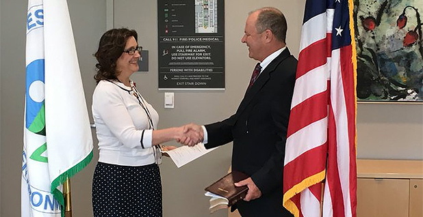 Mike Stoker at his swearing in as EPA Region 9 administrator. Photo credit: @EPAregion9/Twitter