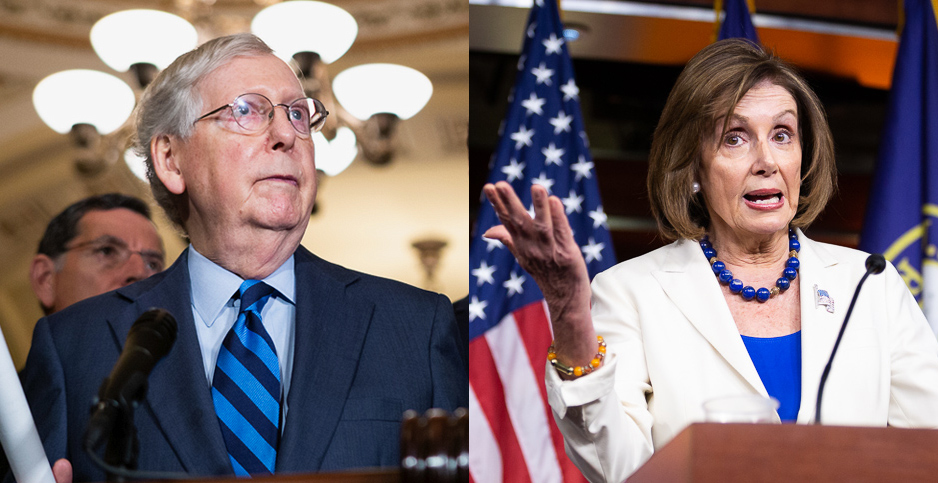 Sen. Mitch McConnell (R-Ky.) and Rep. Nancy Pelosi (D-Calif.). Photo credit: Francis Chung/E&E News