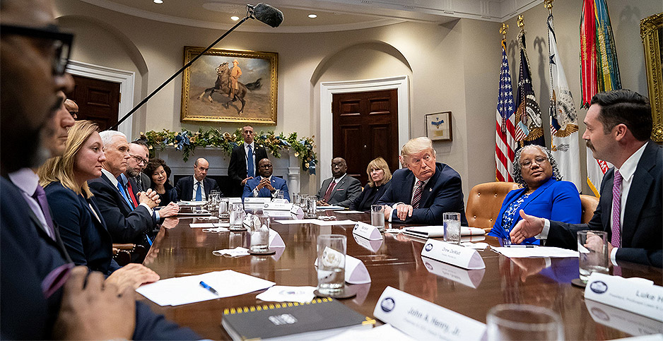 President Trump. Photo credit: Tia Dufour/The White House/Flickr