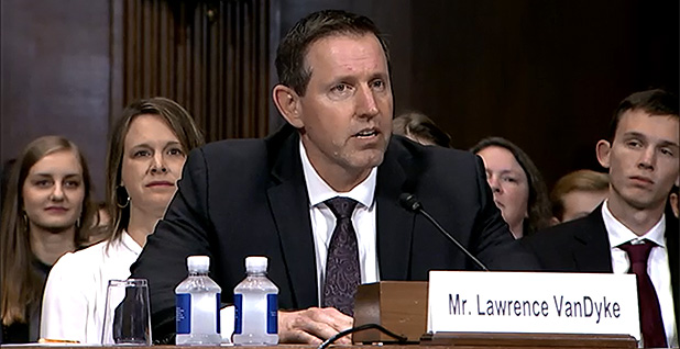 Lawrence VanDyke. Photo credit: Senate Judiciary Committee
