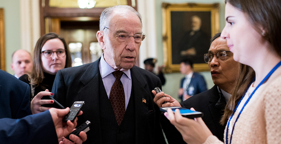 Sen. Chuck Grassley (R-Iowa). Photo credit: Bill Clark/CQ Roll Call/Newscom