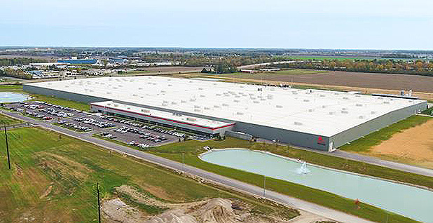 First Solar's module manufacturing facility in Lake Township, Ohio. Photo credit: First Solar