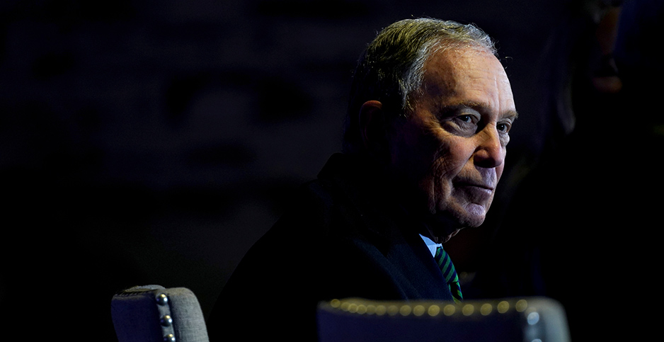 Presidential candidate Michael Bloomberg. Photo credit: Photo credit: Rick Wilking/REUTERS/Newscom