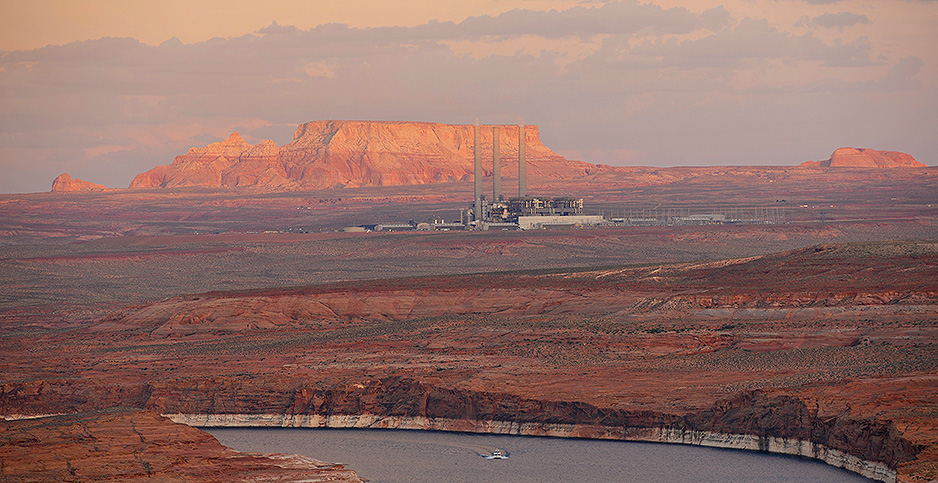 The Navajo Generating Station in Arizona closed in November. Photo credit: Michael Weber imageBROKER/Newscom