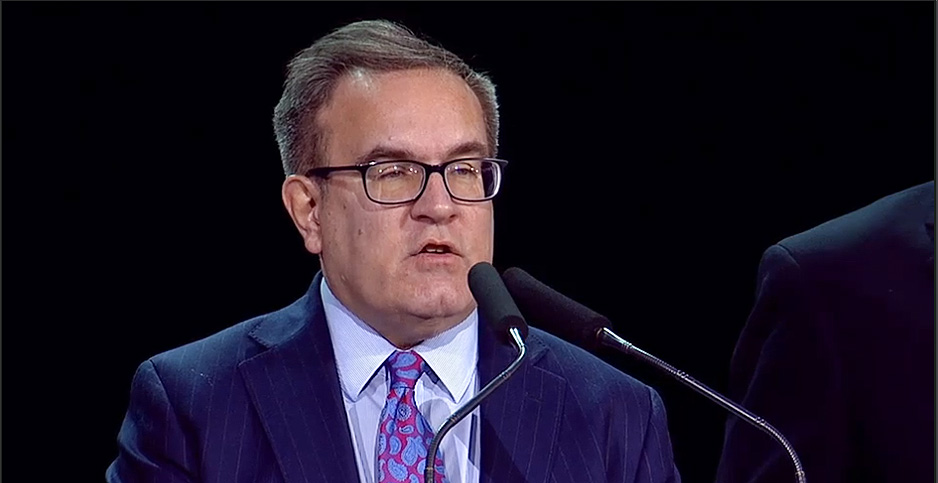 EPA Administrator Andrew Wheeler addressing the National Association of Homebuilders' annual conference today. Photo credit: National Association of Homebuilders