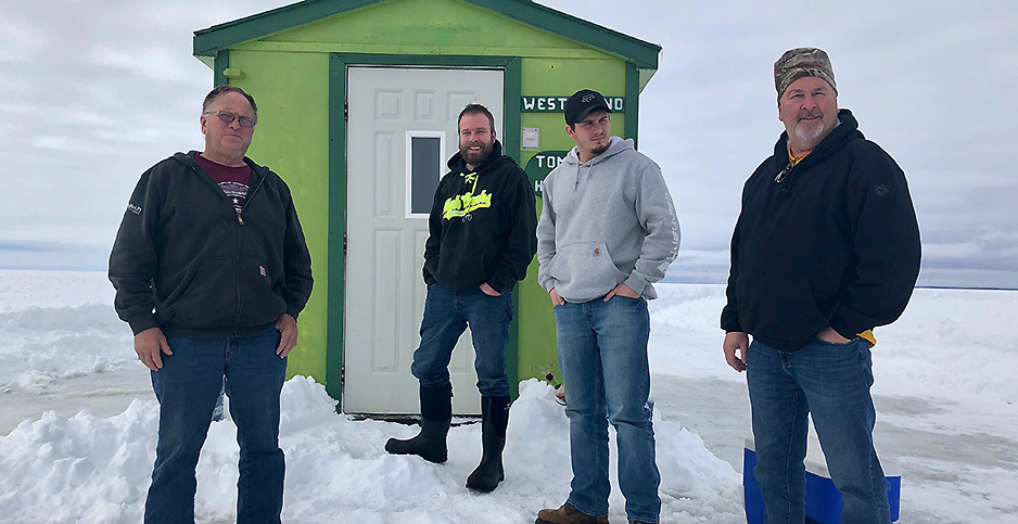 Joe Feld, far right, of Cedar Rapids, Iowa. Photo credit: Daniel Cusick/E&E News