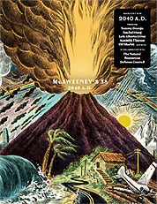 "Cover of McSweeney's Issue 58: ""2040 A.D"". Photo credit: McSweeney's"